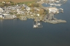 Aerial view of Crab Alley Marina
