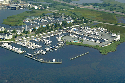 Aerial view of Lippincott Marine