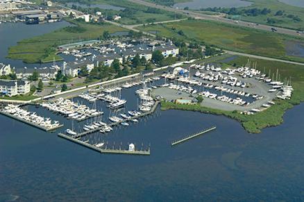 Aerial view of Lippincott Marine