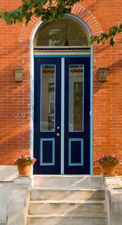 Blue Door on Baltimore front door