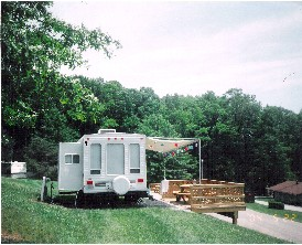 Merry Meadows Recreation Farm deck site