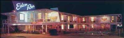 Eden Roc Motel night exterior