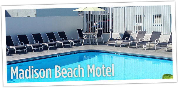 Madison Beach Motel pool view