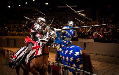 Medieval Times Dinner and Tournament knights battle