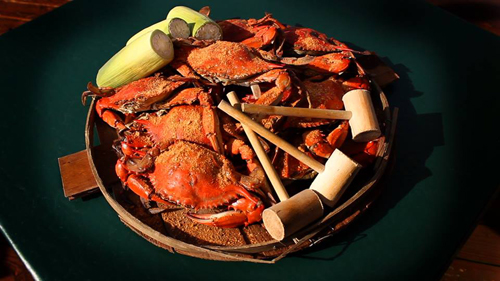 Steamed crabs at Ocean City Fish Co.