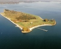 Aerial view of St. Clement's Island State Park