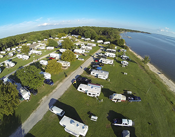 Roaring Point Waterfront Campground aerial view