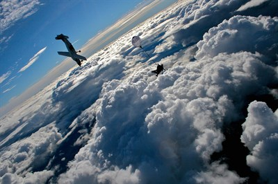 Skydive taking place