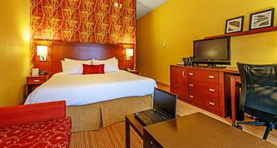 Room interior of Courtyard by Marriott-Frederick