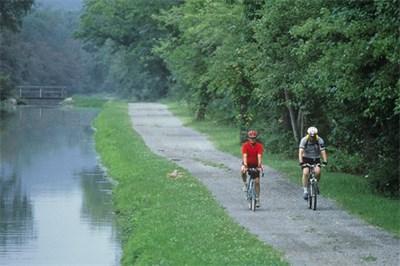 Biking along C&O Canal