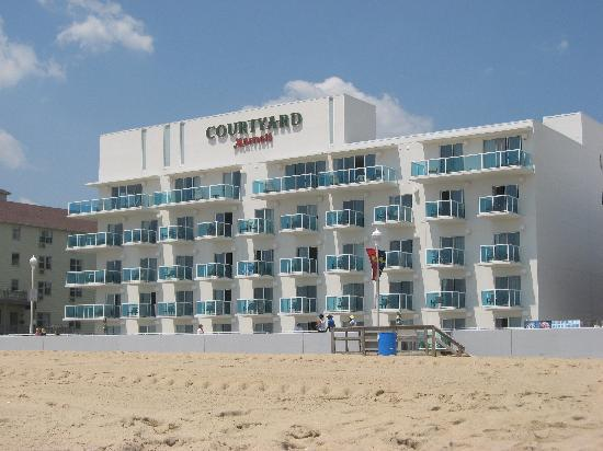 Courtyard by Marriott-Ocean City exterior beach view