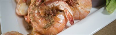 Steamed shrimp at Hooper's Crab House