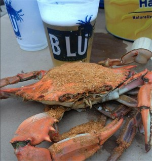 Crab and the Blu logo