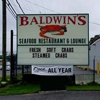 Baldwin's Seafood Restaurant and Lounge signage