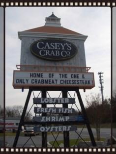 Casey's Crab Co. signage