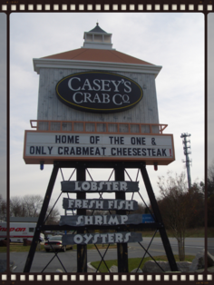 Casey's Crab Co. signage