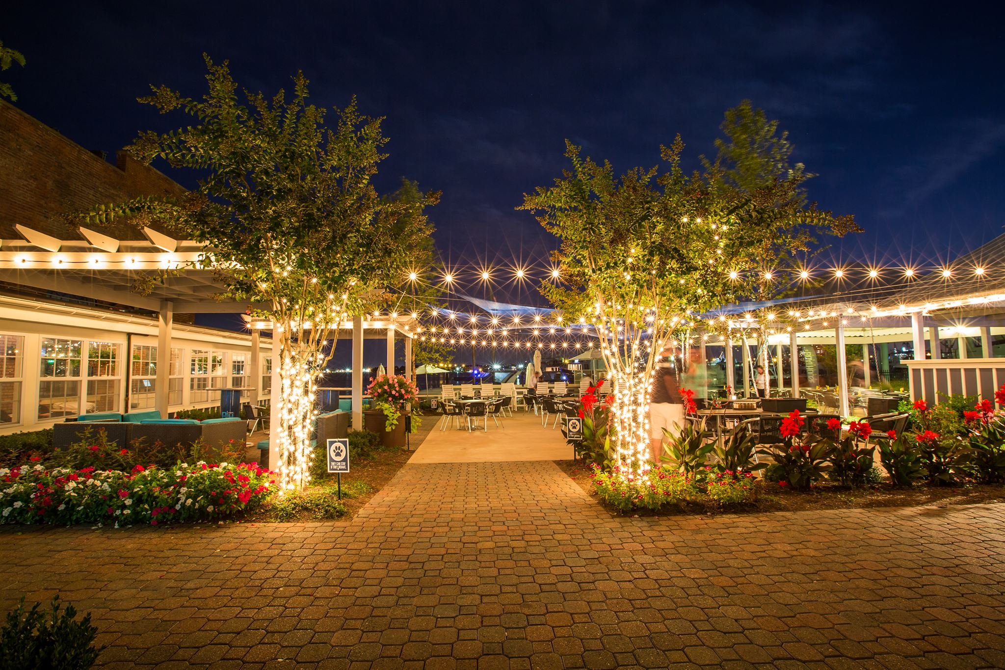 The Boathouse Canton night view