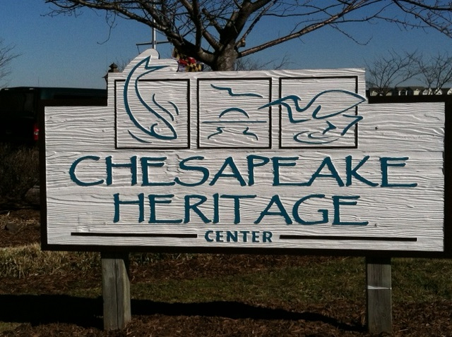 The Chesapeake Heritage and Visitors Center signage