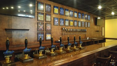 Beer taps at Chesepiooc Brewing