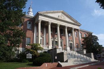 Maryland State House front exterior view