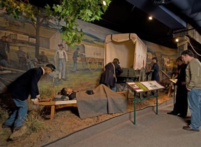 exhibits at  National Museum of Civil War Medicine