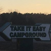 Take It Easy Campground signage