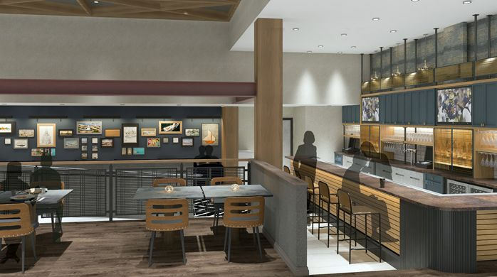 Kitchen on West Street interior view