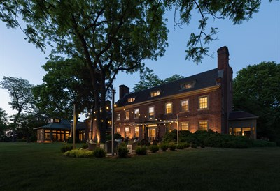 Great Oak Manor Inn exterior view at night