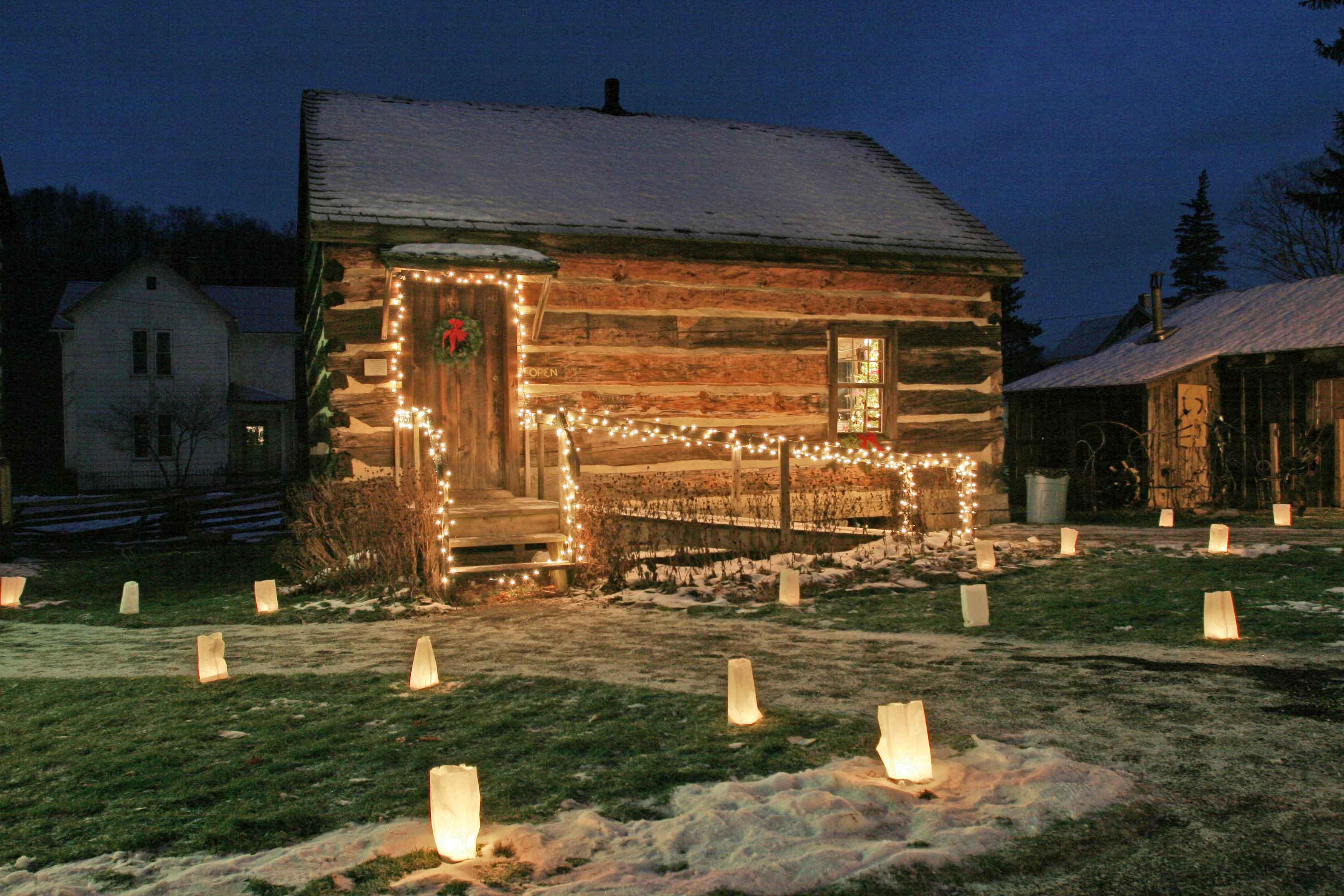 Spruce Forest Artisan Village with luminaries