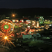 Garrett County Agriculture Fair at Night