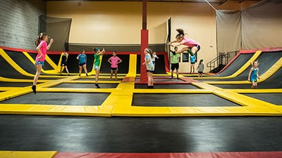 main arena trampolines