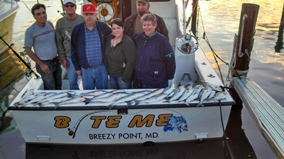 Bite Me Charter after a happy time fishing.