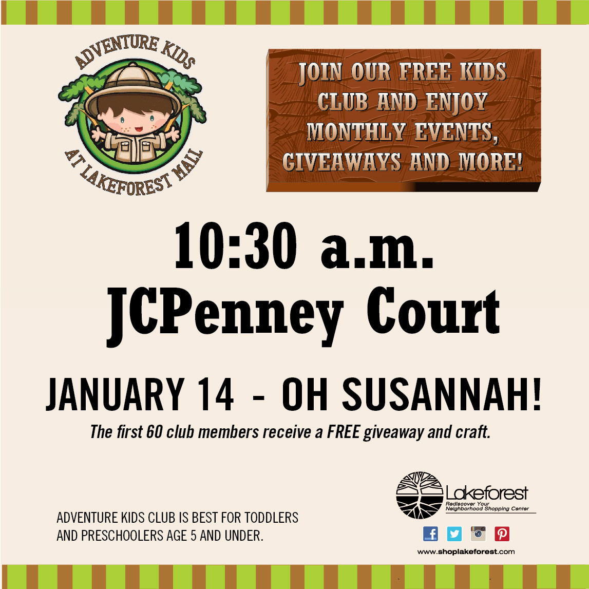 Free Concert at Lakeforest Mall on Jan. 14th at 10:30am