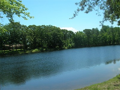 The lake at Take It Easy Campground