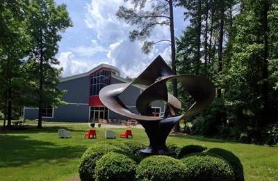 A sculpture from the Annmarie Sculpture Garden & Arts Center