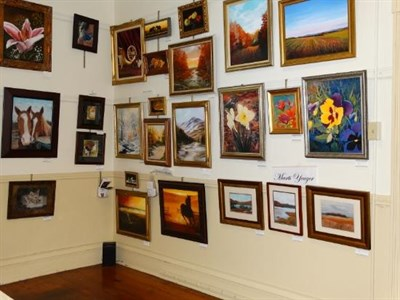 Art on display at the Mansion House Art Gallery